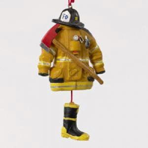 Kurt Adler 4.5- Firefighter Uniform Christmas Ornament (Firefighter Ornaments)