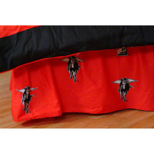 NCAA - Texas Tech Red Raiders Printed Bedskirt- Queen Bed