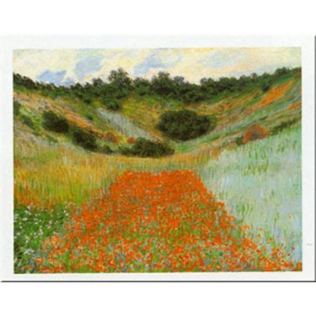 Field Of Poppies At Giverny by Claude Monet 20x28 Art Print Poster