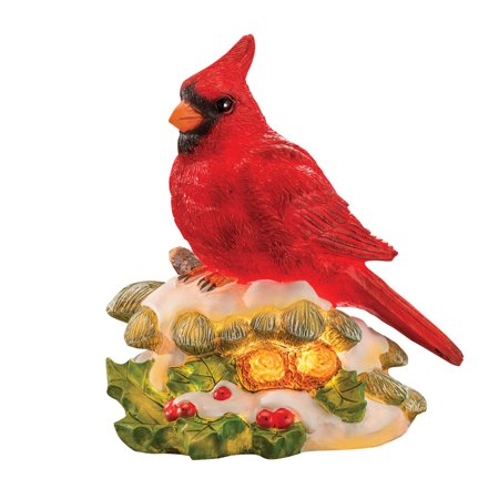 Cardinal Accent Light Christmas Table Decoration - 80s Christmas Decorations