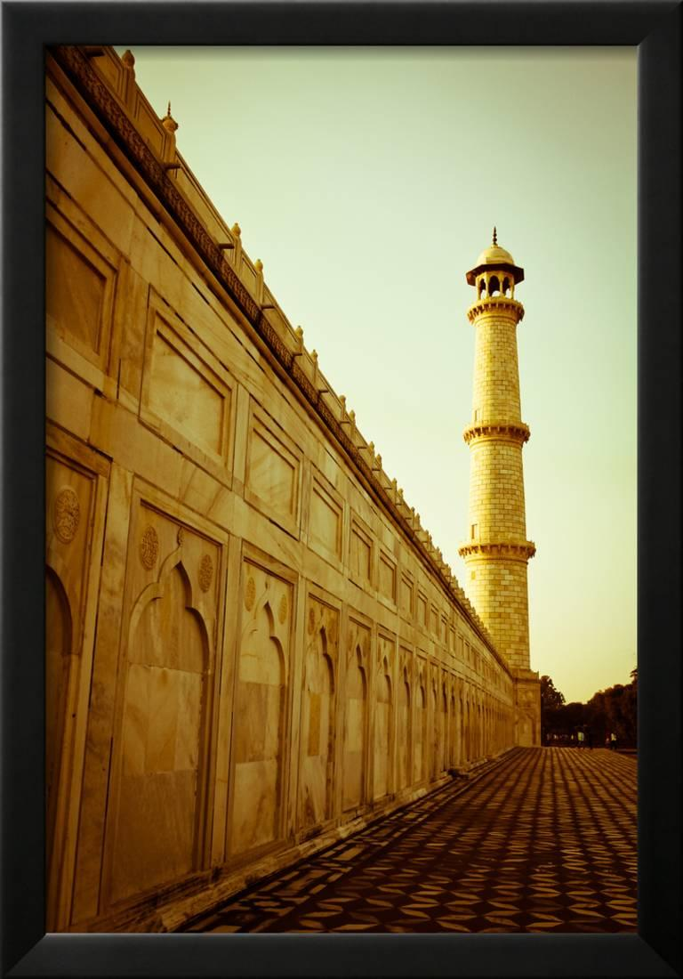 Beautiful Minaret during Sunrise at Taj Mahal in Agra, India Framed ...