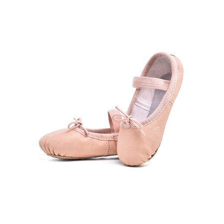 Stelle Now Premium Leather Ballet Shoes for Girls, Ballet Pink, Toddler