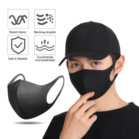 50 Pack Face Mask Anti Dust for Personal Health, 3-Ply Ear Loop & 1 PCS Washable Sponge mask Optional - image 5 of 6