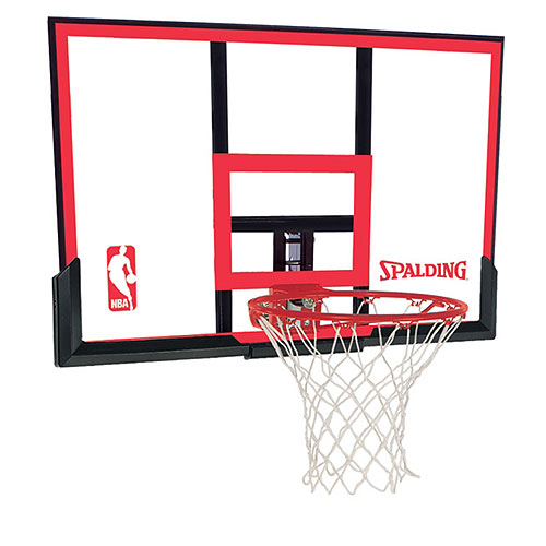 "Spalding 48"" Polycarbonite Basketball Backboard and Rim Combo"