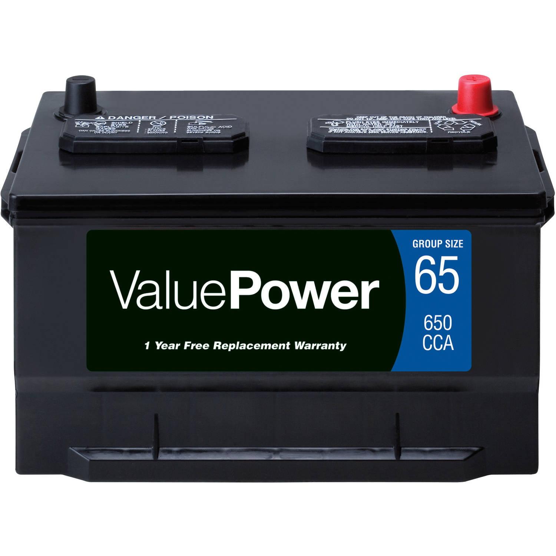 ValuePower Lead Acid Automotive Battery, Group 65