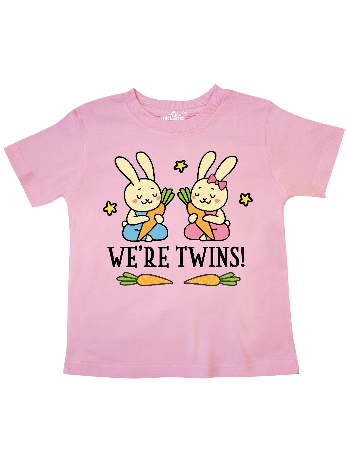 Twin Boy And Girl Bunny Gift Toddler T-Shirt