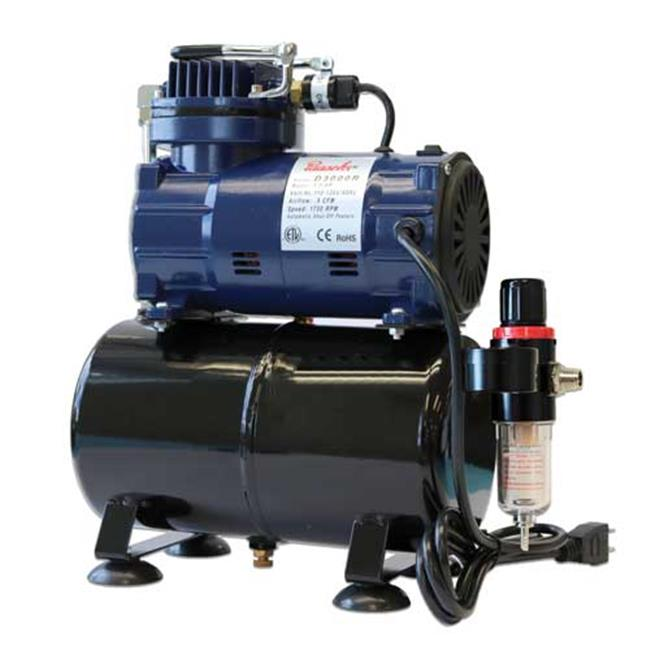 Paasche D3000R 1 by 8 HP Diaphragm Compressor with Tank &...
