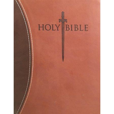 KJVER Sword Study Bible Personal Size Large Print Dark Brown Light Brown Ultrasoft : King James Version Easy Read