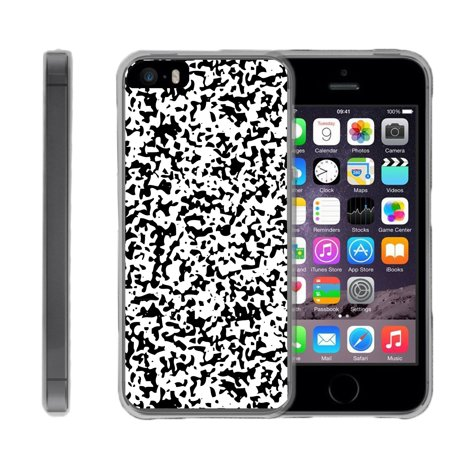 5b7891746 TurtleArmor ® | For Apple iPhone SE | iPhone 5 | iPhone 5s [Flexible Case]  Slim Fitted TPU Case - Composition Notebook Camouflage - Walmart.com