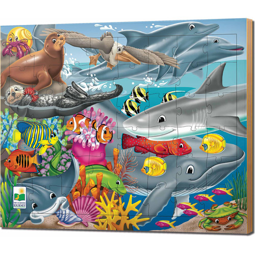 The Learning Journey 48-Piece Lift and Discover Jigsaw Puzzle, Creatures of the Sea