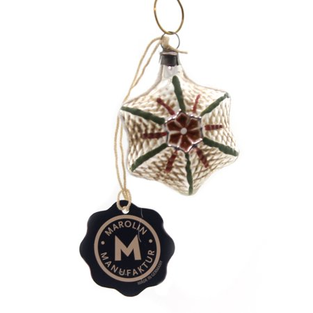 Marolin VINTAGE LOOKING STAR Glass Ornament Feather Tree (Vintage Looking Glasses)