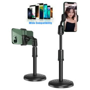 Cooligg 360 Adjustable Desktop Cell Phone Stand , Stabilize Stand Holder for Mobile Phone (All Size) , Black