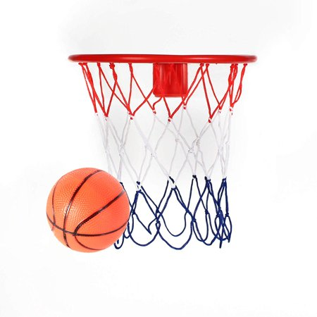 8-Inch Over the Door Basketball Hoop - with Mini Ball Set Or On the Wall - Fun Sports Game - Kids, Teens and Adults,Comes with Pump and Metal