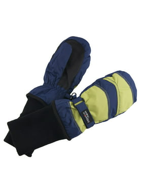 SnowStoppers Medium Navy/Lime 2-tone Mittens