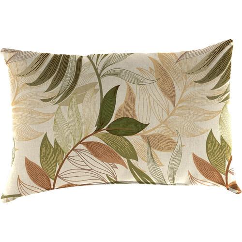 Jordan Manufacturing Indoor/Outdoor Patio Rectangular Toss Pillow, Oasis Nutmeg