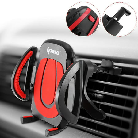 IPOW Car Air Vent Cell Phone Holder GPS Smartphone Universal Car Mount Flexible Mobile Phone Cradle for iPhone XR XS X 8 7 6 6s Plus, Samsung Galaxy S9 S8