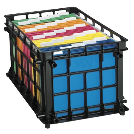 Oxford 038079 Pendaflex Oxford File Crate, Black Oxford File Cabinets