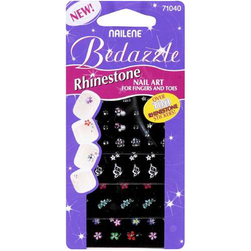Pacific World Nailene Bedazzle Nail Art, 4 ea
