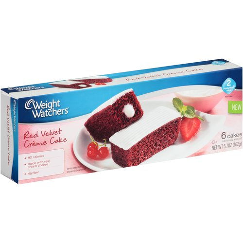 Weight Watchers Red Velvet Creme Cakes, 6 count, 5.7 oz