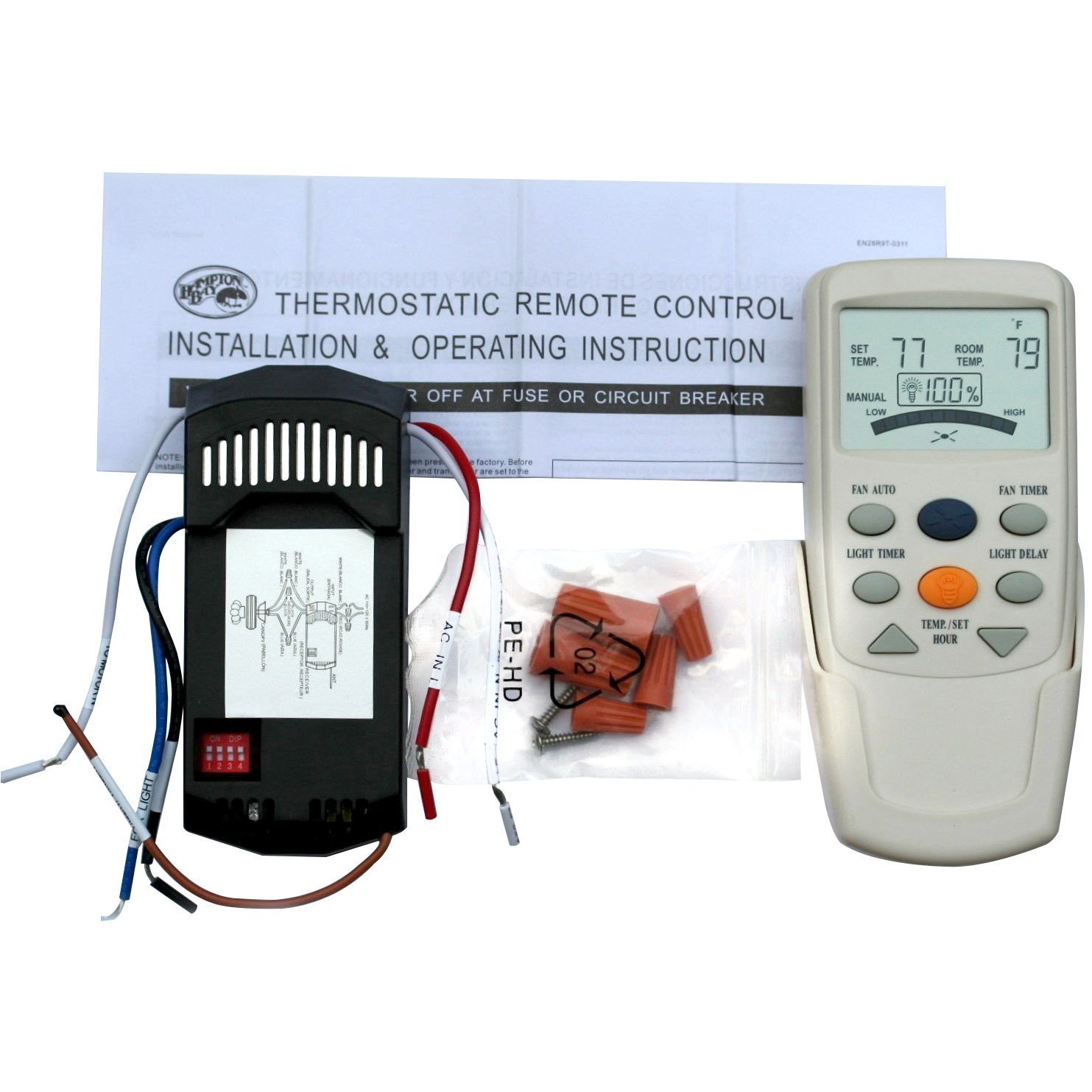 CBK Universal Thermostatic Ceiling Fan and Light Remote C...