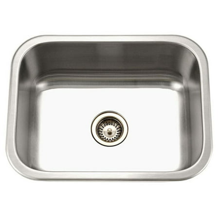 Houzer MS-2309-1 Medallion Classic Series Undermount Stainless Steel Single Bowl Kitchen Sink - Franke Single Bowl Undermount Sink