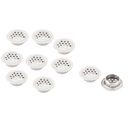 Home Hardware Perforated Round Mesh Air Vents Floor Strainer Silver Tone 10 Pcs