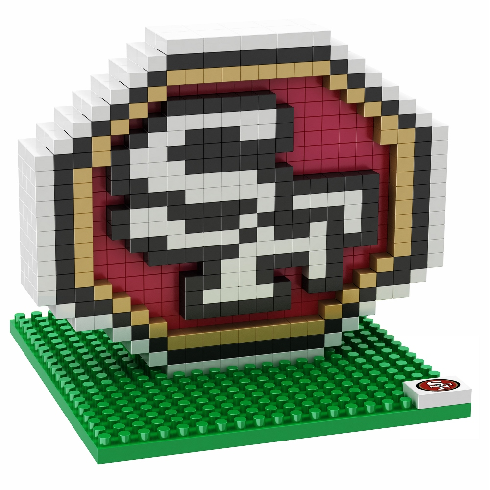 San Francisco 49ers NFL BRXZL 420 Piece 3-D Construction Toy Team Logo