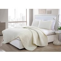 VCNY Home Nina Basket Weave Ultra Soft Textured 2 - 3 Piece Quilt Set
