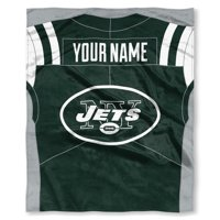 "NFL New York Jets ""Jersey"" Personalized Silk Touch Throw Blanket"