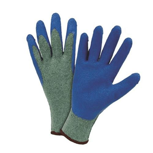 Large Crinkle latex palm dip gloves Dozen