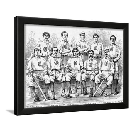 - The Picked Nine of the Red Stocking Baseball Club, Cincinnati, Ohio. (Photo) Framed Print Wall Art