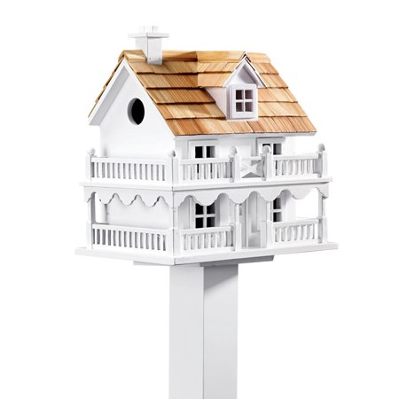 Wooden Classic Two Story Cape Cod Bird House with Shingles