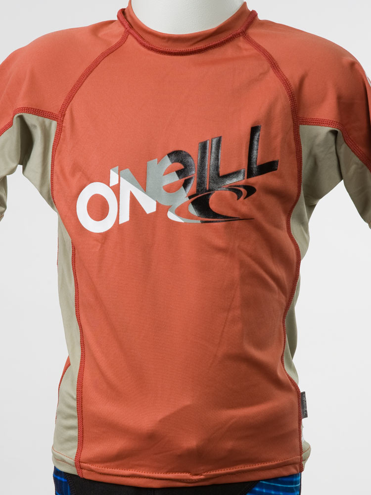 O'Neill Boys Short Sleeve Rashguard: Lycra Swim Shirt 50+UV Surf Scuba Snorkel