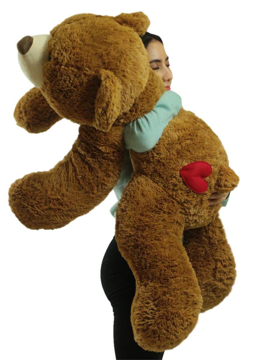 Giant Teddy Bear 36 Inch Honey Brown Soft 3 Foot Teddy Bear with Heart on Butt to Express... by BigPlush