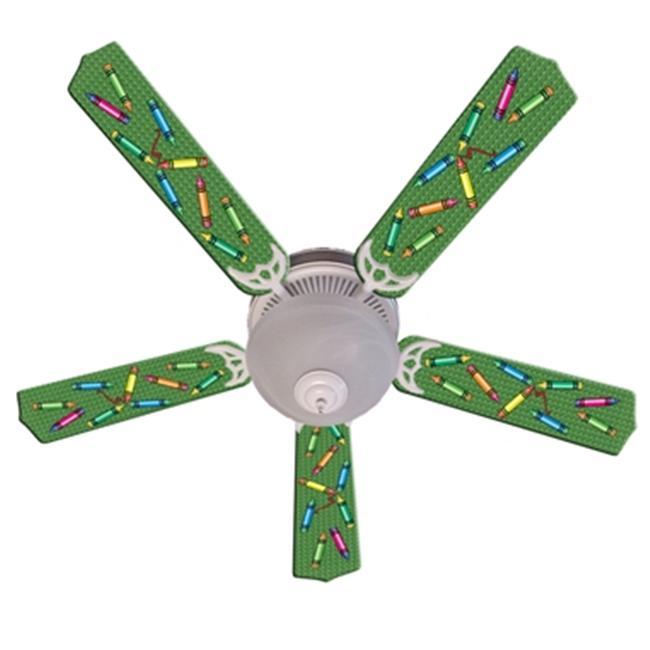 Ceiling Fan Designers 52FAN-IMA-KCC Kids Colorful Crayons Ceiling Fan 52 inch