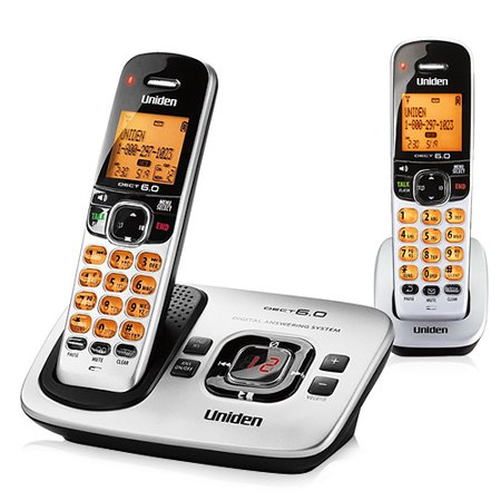 Uniden D1780-2 Cordless Phone w/ Backlit LCD Display & 1 Extra Handsets