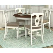 5-Pc Round Dining Set with Table Leaf