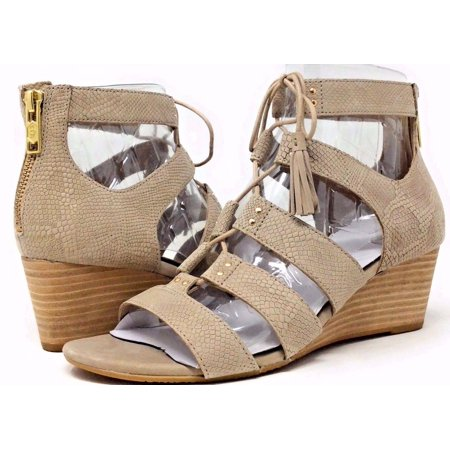 Stage Wedge (UGG Women's Yasmin Snake Gladiator Wedge Sandal Horchata Leather Size 9 B )