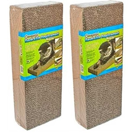 Ware Corrugated Reversible Replacement Cat Scratcher, Regular, 2 - Horizontal Scratcher