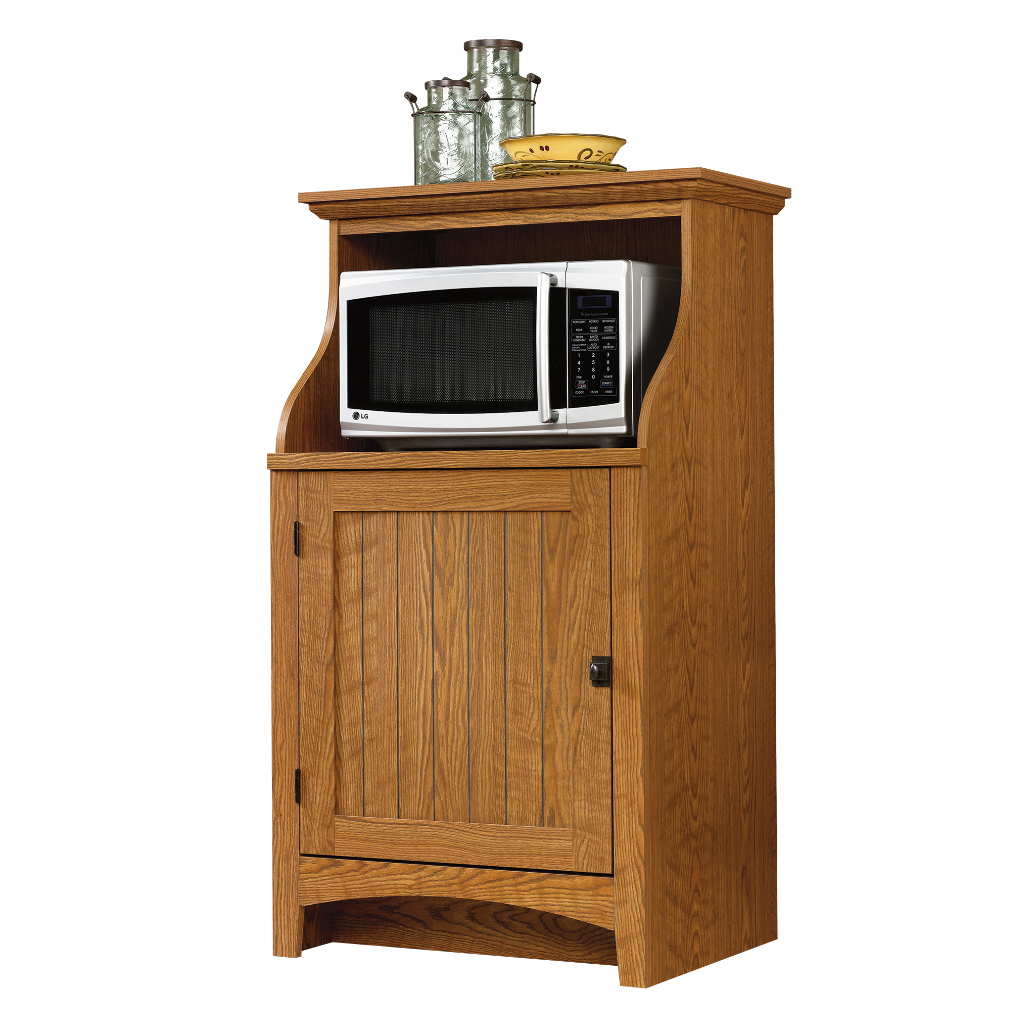 Sauder Microwave Kitchen Cart, Carolina Oak Finish