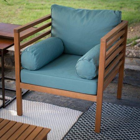 Coral Coast Tovar Outdoor Wood Slat Deep Seating Lounge Chair