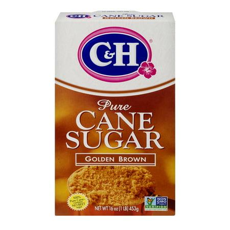 C&H: Pure Cane Golden Brown Sugar, 1 Lb