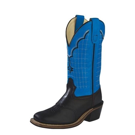 Cowboy Boots For Boys (Old West Cowboy Boots Boys Girls Kids Goodyear Black Blue)