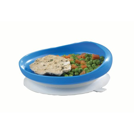 Scoop plate with suction cup -