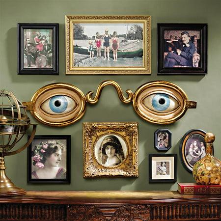 Metallic Wall Sculpture - Design Toscano Folk Art Optometrist Trade Wall Sculpture