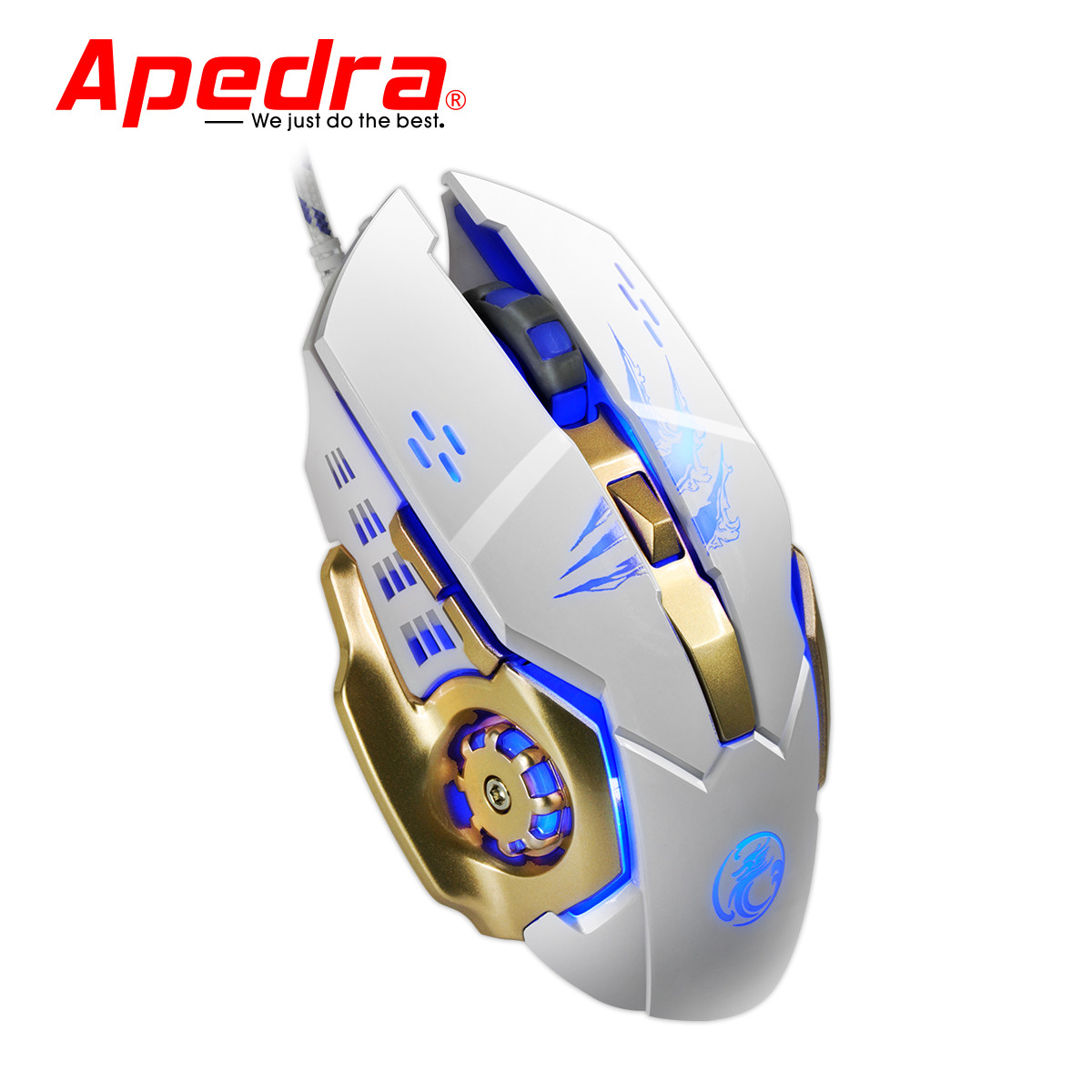 DZT1968 3200DPI LED Optical 6D USB Wired Gaming Game Mouse For PC Laptop Game