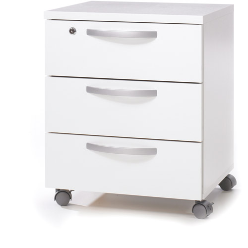 Cullen Mobile File Cabinet, White