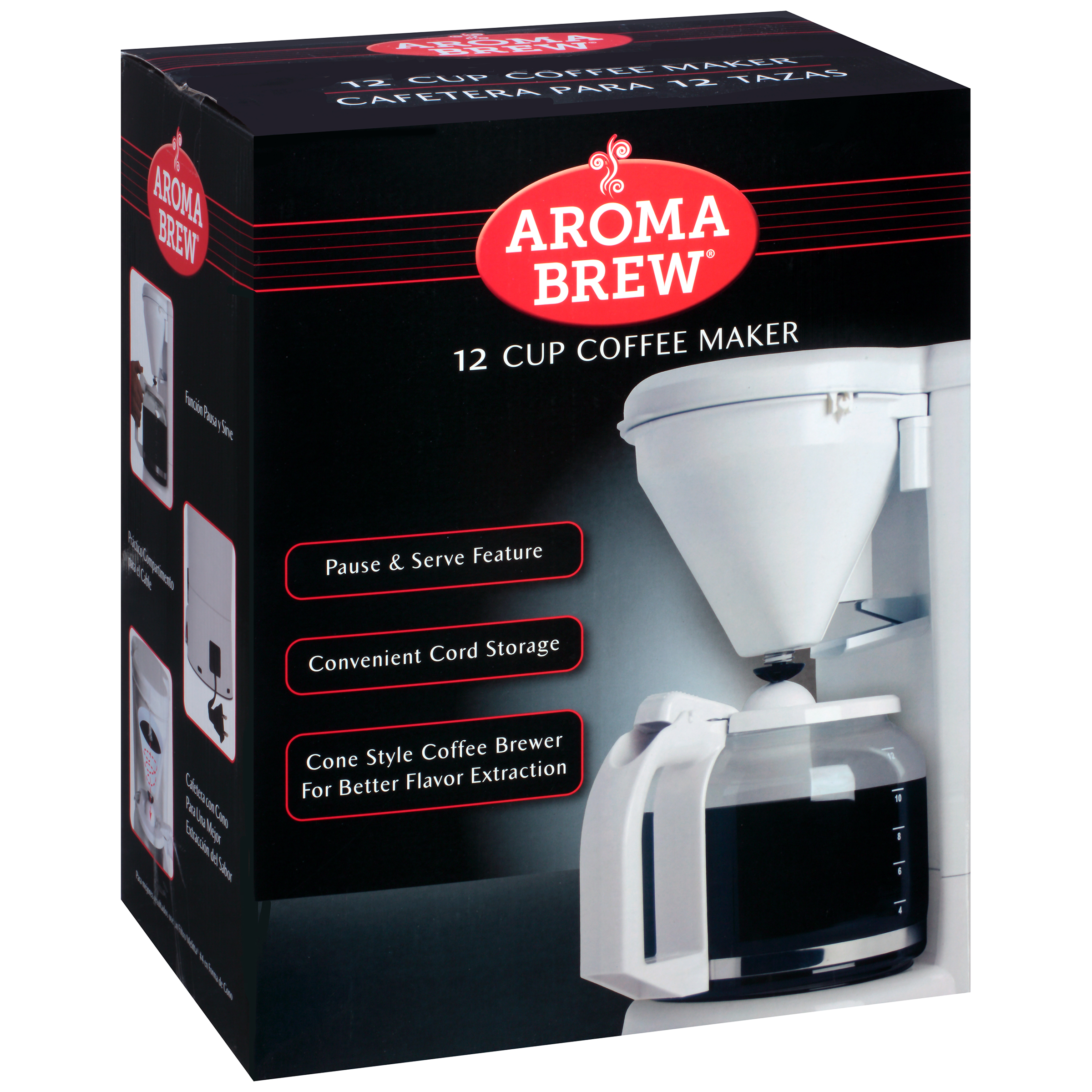 Aroma Brew® White 12 Cup Coffee Maker Box