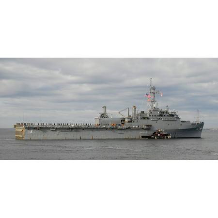 LAMINATED POSTER Amphibious transport dock ship USS Shreveport (LPD 12) departs from Naval Station Norfolk. Shrevepo Poster Print 24 x 36
