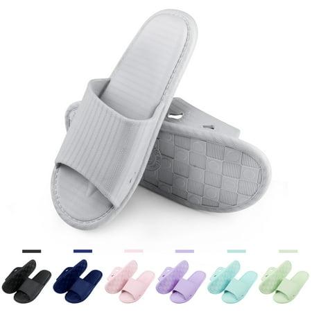 24787c2db notjustagarget - Women Men s Slip On Slippers Non-Slip Shower ...